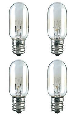 Four Bulbs 25T8N Clear 25 Watt 120 Volt E17 Intermediate Bas