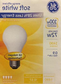GE 72 Watt 4-Pack Frosted Halogen Light Bulbs