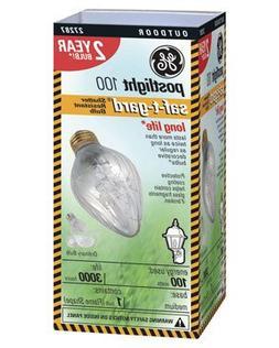 G E Lighting 44540 Saf-T-Gard Outdoor Post Light Bulb 100Wat