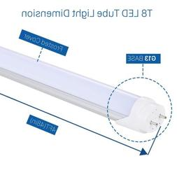 T8 Led Light Tube 4ft Fluorescent Replacement Bulb 48 inch 6