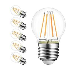 G14 LED Filament Globe Bulb 4W, LVWIT Dimmable 3000K Soft Wh