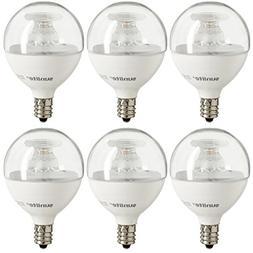 Sunlite G16.5/LED/7W/D/E12/CL/ES/27K/CD/6PK Globe Candelabra