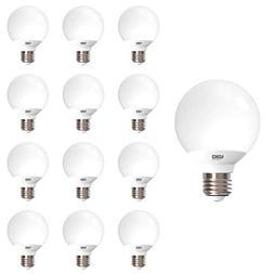 Sunco Lighting 12 Pack G25 LED Globe, 6W=40W, Dimmable, 2700