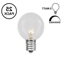 Novelty Lights 25 Pack G30 Outdoor Globe Replacement Bulbs,