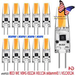 G4 COB Dimmable Lamp Bulbs LED Energy Saving Light Bulbs AC