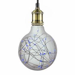 Sunlite G40 Globe Bulb, 40 Blue LED Fairy Lights, Medium  Ba