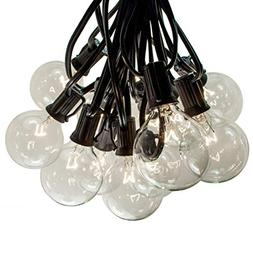 100 Foot G50 Patio Globe String Lights with 2 Inch Clear Bul
