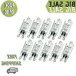 Pack Of 10 40 Watt G9 Bi-Pin Halogen Bulb, 40-Watt 120-Volt