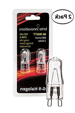 Brite Innovations G9 Halogen Bulb, 60 Watt – 2 Pack – En