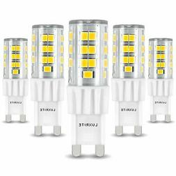 Luxrite G9 LED Bulb T4 50W Equivalent 550lm 5000K Dimmable G