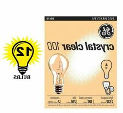 GE 97489 Crystal Clear General Purpose A19 Light Bulb, 100-W