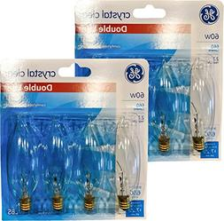 GE Crystal Clear Decorative Blunt Tip Light Bulbs, 1.4 Year