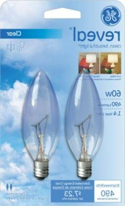 GE Lamps 48700 25-Watt Reveal Blunt Tip B10 2CD, 2-Pack
