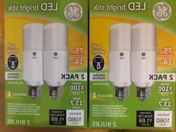 GE LED Bright Stik 14W 75W Watt Replacement 1060 Lumens 4 li