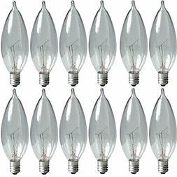 GE Lighting Crystal Clear 24782 40-Watt, 370/280-Lumen Bent