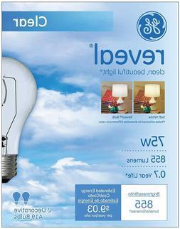 GE 4PK 60W Reveal Lamp, Pack of 12
