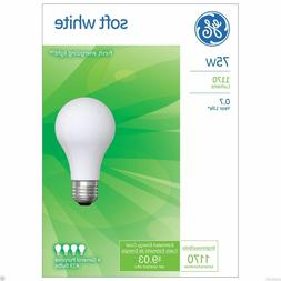 ~ 75 Watt GE Soft White Incandescent Light Bulbs - Household