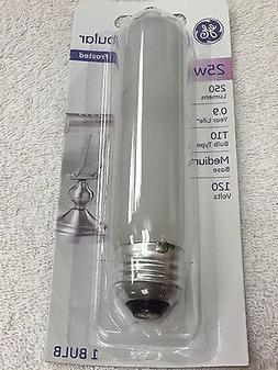GE 25 Watt T10 Frost Tubular Bulb