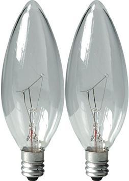 Ge Ceiling Fan Light Bulbs Blunt Tip 40 W 280 Lumens Candela