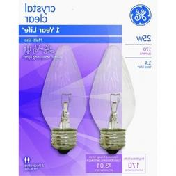 GE2PK 25W CLR Flam Bulb