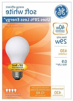 GE Lighting 66246 29W E26 A19 Soft White Halogen Dimmable Li