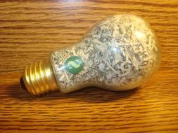 Glass Light Bulb design $ Shape USA Genuine Shredded Currenc