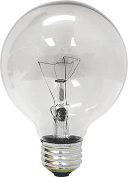 GE 12983-4 25 Watt Globe G25 Light Bulb, Crystal Clear, 4-Pa