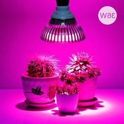 36W LED Grow Light Bulb, Levin Plant Light Bulb E26 Bulbs In
