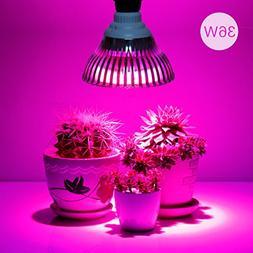 36W LED Grow Light Bulb, Levin Plant Light Bulb E26 Bulbs In