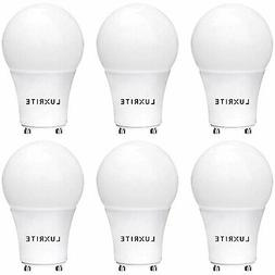Luxrite GU24 LED A19 Bulb 60W Equivalent Dimmable 4000K 800l