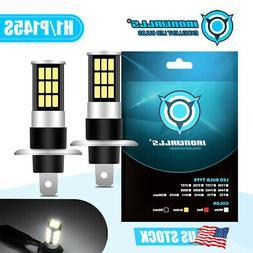 H1 CREE LED Fog Light Bulbs Headlight Conversion Kit Super B