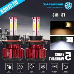 H13 9008 CREE LED Headlight Kit Bulbs Hi/Lo Beam white 6000K
