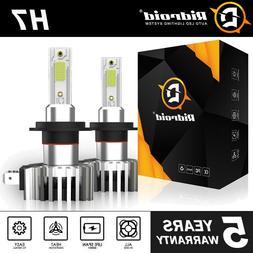 H7 LED Headlight Bulbs Conversion Kit Hi/Lo Beam 2200W 33000