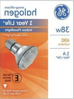 G E LIGHTING Halogen Floodlight Bulb, Indoor, Par 20, 38-Wat