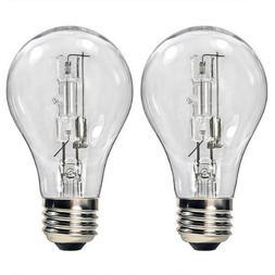 Bulbrite 115052 - 53 Watt Halogen Light Bulb - A19 - Clear -