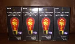 Happy Halloween Orange Light Party Light Bulbs 120 Volts 40