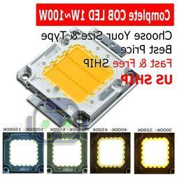 High Power 1W 3W 5W 10W 20W 30W 50W 100W White SMD LED COB C
