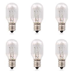 15Watt Himalayan Salt Lamp Bulbs 6Pack-E12 Socket Incandesce
