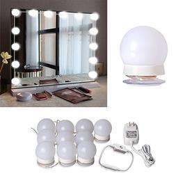 Hollywood Style LED Vanity Mirror Lights Kit with 10 Dimmabl