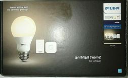 Philips Hue A19 Light LED Smart Bulbs Starter Kit w/ Dimmer