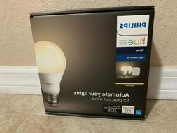 Philips - Hue White A19 LED Starter Kit - White + FREE Googl