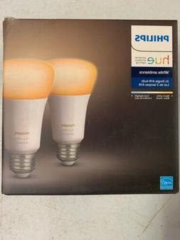 Philips Hue White Ambiance A19 2-Pack Dimmable LED Smart Lig