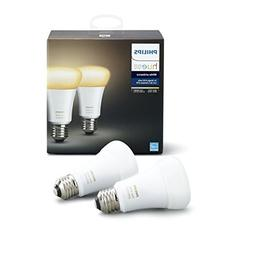 Philips Hue White Ambiance 2-Pack A19 60W Equivalent Dimmabl