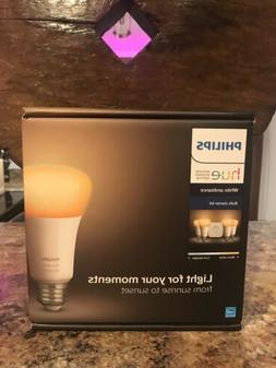 LED Bulbs Hue White Ambiance Starter Kit 4 Pack A-Line Shape