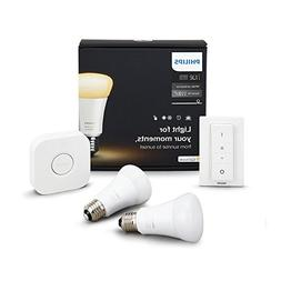 Philips Hue White Ambience A19 Bulb Starter Kit