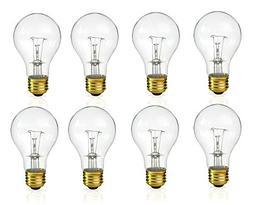 Incandescent 60 Watt A19 Light Bulb: Clear Standard Househo