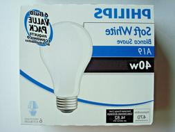 incandescent light bulbs a19 40w 6 pack