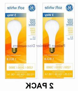 GE 3 Way Incandescent Mogul Base Bulbs 100/200/300 Watt PS25