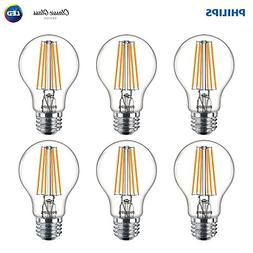 Philips LED Indoor/Outdoor A19 Clear Glass Dimmable Filament