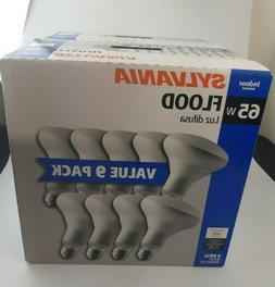 Sylvania Indoor Flood Light Bulbs BR30 65W 120V Value 9 Pack